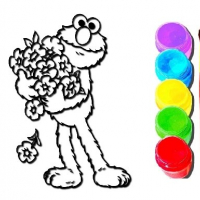 Elmo Coloring Book