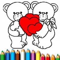 Happy Valentines Day Coloring