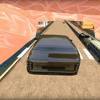 Train vs Super Car Racing Game